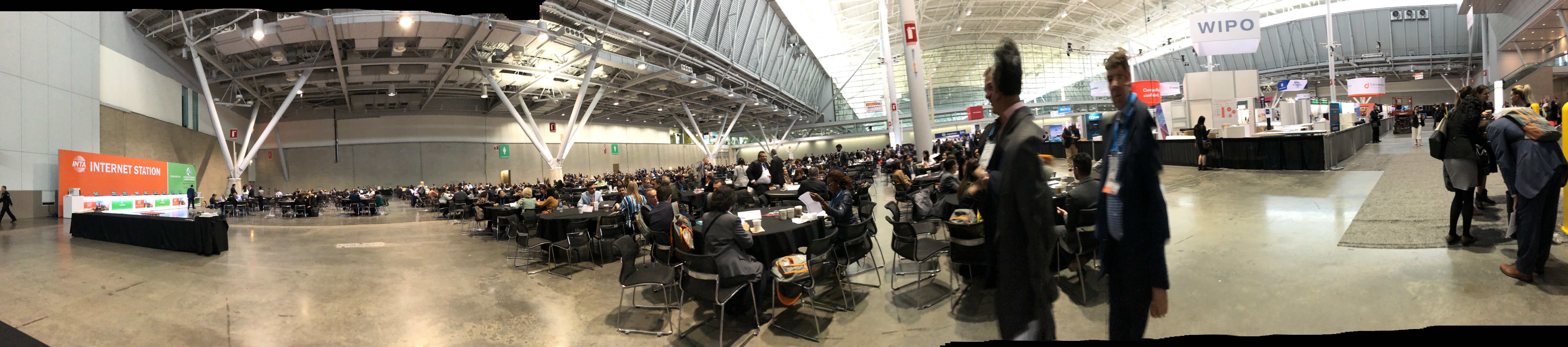Hundreds of simultanuous meetings in the Expo Hall @ INTA 2019, Boston MA. Image: Claire Kowarsky